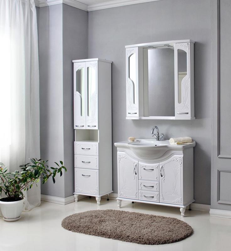 Комплект мебели Ольвия (Атолл) Барселона белое дерево 95 lucido