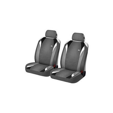 Накидки на передние сиденья Hadar Rosen FORMULA Серый/Черный 21145, фото 2