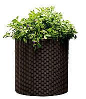 Плетеный цветник Medium Cylinder Planter коричневый