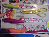 Набор ножей Kitchen Knife 003, набор ножей, 4 предмета, Кнайф, кухонные ножи. столовые ножи. подставки
