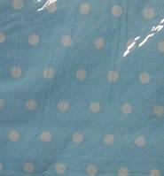 Салфетки Горохи Голубые 10штук