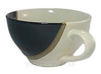 Чашка 300 мл керамическая «Чайная » шоколад глянцевый.