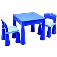 Комплект детской мебели Tega Baby Mamut (стол + 2 стула) (синий)