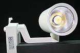 Светодиодный трековый светильник 20 Вт холодный белый 6500К, фото 4