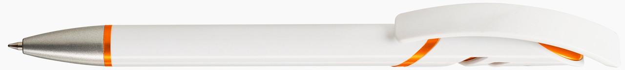 Ручка пластиковая VIVA PENS Starco Metallic бело-оранжевая