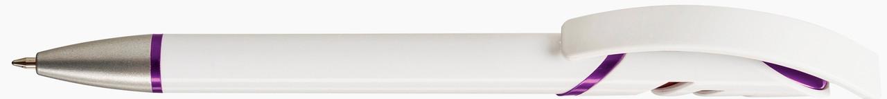 Ручка пластиковая VIVA PENS Starco Metallic бело-фиолетовая