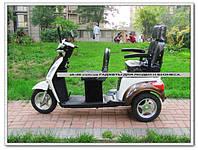 Электро скутер для пожилых людей три колеса,трицикл., фото 1