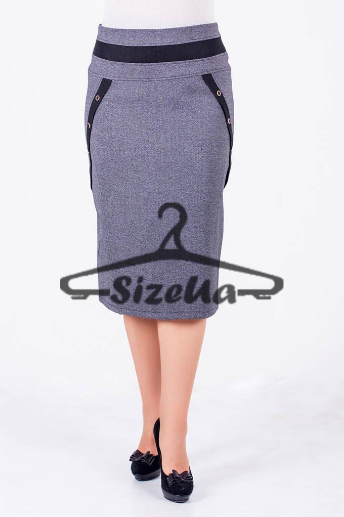 14958a3e9aa Женская юбка Франческа серая  продажа