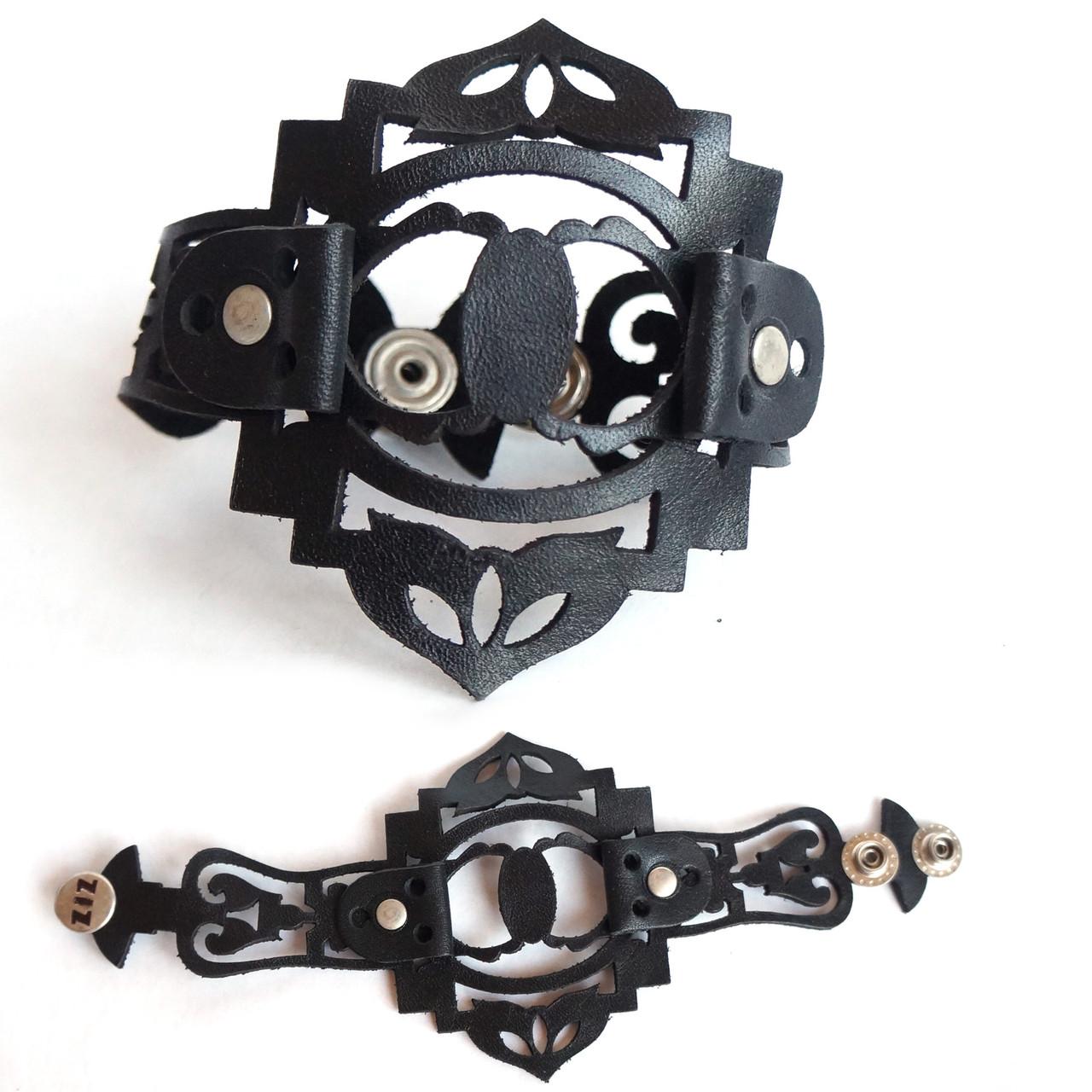 Ремешок для часов с высечкой узором, черный