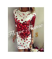 Женское стильное  Платье Сердце