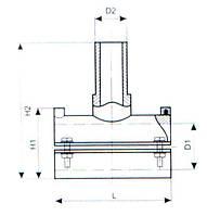 Седловой ПЭ отвод терморезисторный