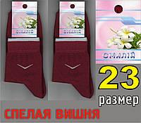 """Носки женские демисезонные ТМ """"Смалий"""", Украина 23 размер спелая вишня НЖД-341"""