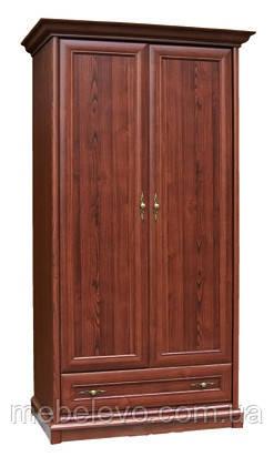 Шкаф Людовик 2Д 1Ш 2045х1100х560мм каштан   Мебель-Сервис, фото 2