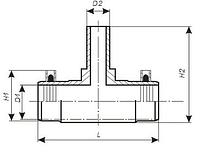 Тройник ПЭ редукционный терморезисторный