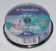 Диск DVD-RW mini Verbatim 8cm 1,4Gb 30 min 2x 10 pack