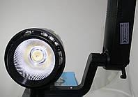 Светодиодный трековый светильник 30 Вт - 2 (черный) холодный белый 6500К, фото 1