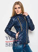 Женская стеганная куртка  на молнии №11 (лаке) плащевка, фото 1