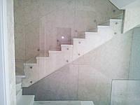 Стеклянные перила для лестниц. Установка, изготовление
