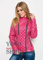 Жіноча куртка №11 (лаку) на блискавці, плащівка, фото 1