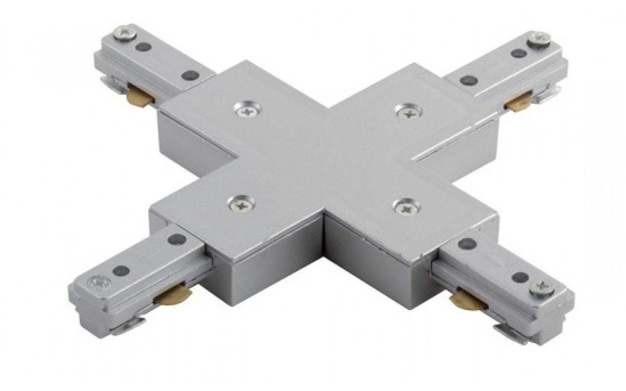 """Коннектор LEDMAX для шинопровода X-образный """"+""""-1-PHS ADAPTER"""