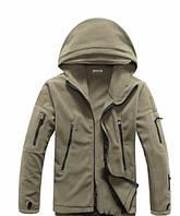Мужская флисовая куртка (хаки ) Плотность флиса 400г/м