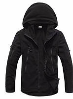 Мужская флисовая куртка черная  Плотность флиса 400г/м