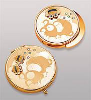 Подарочный женский набор зеркальце + держатель для сумочки WIN-106