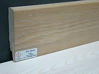Плинтус деревянный шпонированный Тратлайн Дуб состаренный 82*16*2400 мм