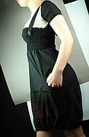 Черная юбка-сарафан, m,l