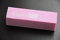 Бафик шлифовочный Niegelon розовый 4х сторонний 180*180