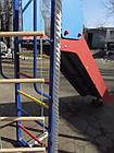 Детский спортивно игровой комплекс с качелями и горкой из нержавейки, фото 6