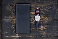Мужское портмоне кошелек Финансист темно-синий, фото 1