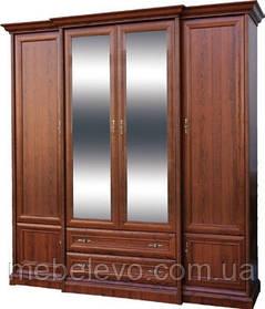 Шкаф Людовик 4Д 2Ш 2250х2150х530мм каштан   Мебель-Сервис