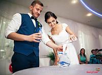 Бело-синяя песочная церемония