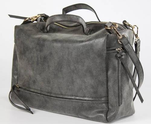 Модная женская сумка с эффектом потертости Traum 7218-02 серый