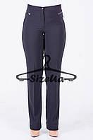 Женские брюки Глория черные с кожой