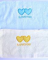 """Махровое кухонное полотенце 35х70 """"I love you"""""""
