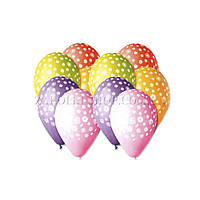 Воздушные шары Gemar, расцветка: Пастель ассорти, Шелкография узоры, Диаметр 30 см, 100 шт.