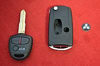 Выкидной ключ Mitsubishi outlander, pajero, lancer, grandis на 3 кнопки вид Дуга