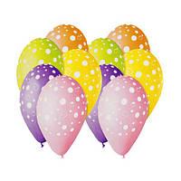Воздушные шары Gemar, расцветка: Пастель ассорти, Шелкография Пузырьки ассорти, Диаметр 30 см, 100 шт.