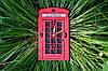 Часы Лондонская Телефонная будка / London Telephone Booth Wall Clock