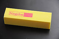 Бафик шлифовочный Niegelon желтый 4х сторонний 100*100