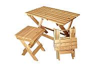 """Набор мебели  деревянный """" Детский  """" Стол +2 стул"""