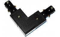 """Коннектор LEDMAX для шинопровода L-образный """"L""""-1-PHS ADAPTER (черный)"""