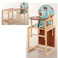 """Детский деревянный стульчик для кормления V-002-2  """"Божья коровка"""""""