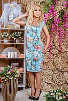 Красивое женское платье из жаккардовой ткани, фото 1