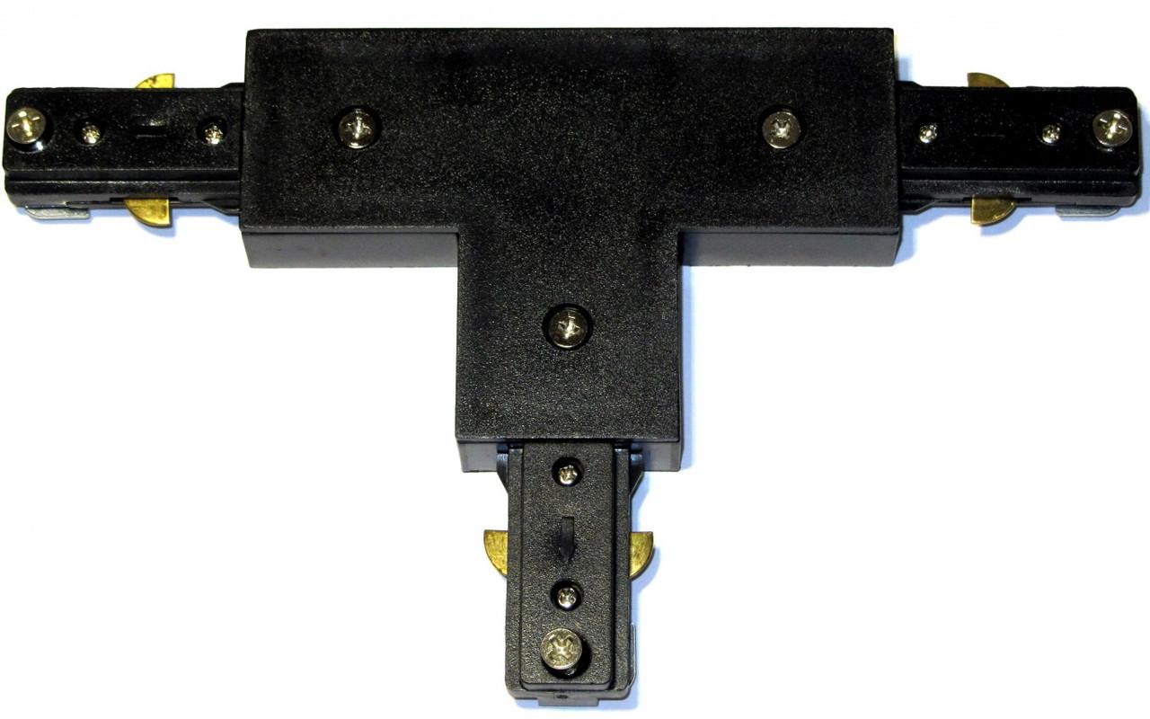 """Коннектор LEDMAX для шинопровода T-образный """"T""""-1-PHS ADAPTER BL (черный)"""