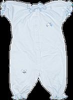 Песочник-футболка однотонный, на кнопках, с бантиками, мультирип, ТМ Маленьке сонечко, р. 56, 62, 68