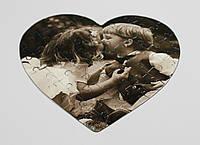 Друк на пазлах у вигляді сердечка., фото 1