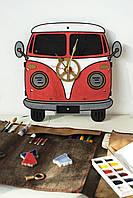 Часы Хиппи Бас / Hippy Bus Wall Clock Hippy Bus Wall Clock, фото 1